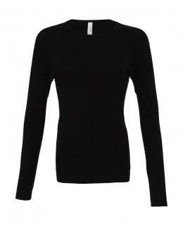 Damen Langarm Shirt / Bella 5001 S Black