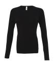 Damen Langarm Shirt / Bella 5001 S White