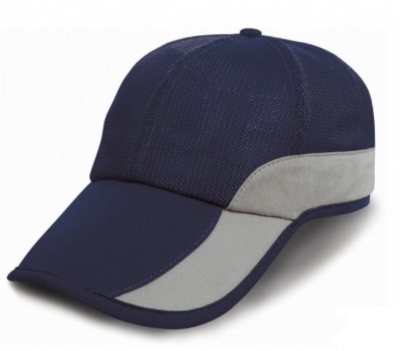 Basecap mit Tasche - Caps / Result Caps RC057X One Size Navy/Silver Grey