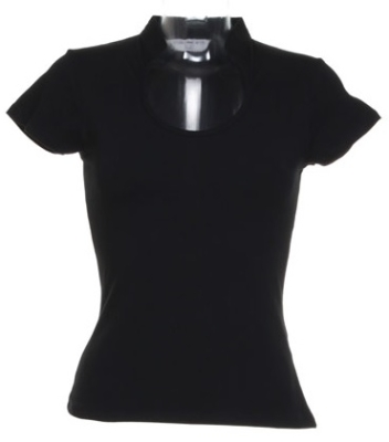 Damen Top Decolletee bis Gr.XL / Kustom Kit KK755 S (34/36) Black