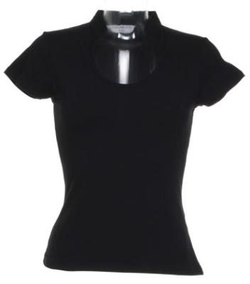 Damen Top Decolletee bis Gr.XL / Kustom Kit KK755 L (42/44) Black