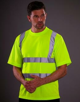 Sicherheits T-Shirt bis Gr.3XL / Yoko HVJ410 M Hi Vis Yellow