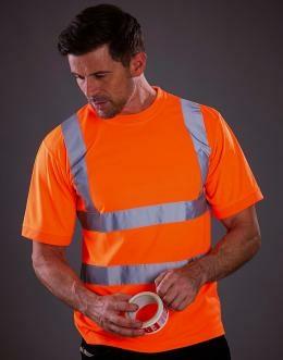 Sicherheits T-Shirt bis Gr.3XL / Yoko HVJ410 L Hi Vis Orange