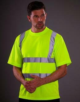 Sicherheits T-Shirt bis Gr.3XL / Yoko HVJ410 XL Hi Vis Yellow