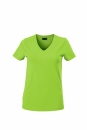 Damen V-Tshirt bis Gr.2XL / James & Nicholson  S Lime Green