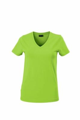 Damen V-Tshirt bis Gr.2XL / James & Nicholson  M Lime Green