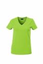 Damen V-Tshirt bis Gr.2XL / James & Nicholson  L Lime Green