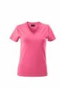 Damen V-Tshirt bis Gr.2XL / James & Nicholson  L Pink