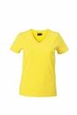 Damen V-Tshirt bis Gr.2XL / James & Nicholson  XL Yellow