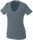 Damen V-Tshirt bis Gr.2XL / James & Nicholson  2XL Mid Grey