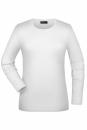 Langarmshirt Damen bis Gr.2XL / James & Nicholson JN054 S White