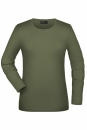 Langarmshirt Damen bis Gr.2XL / James & Nicholson JN054 S Olive