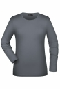Langarmshirt Damen bis Gr.2XL / James & Nicholson JN054 S Mid Grey