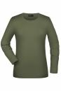 Langarmshirt Damen bis Gr.2XL / James & Nicholson JN054 XL Olive