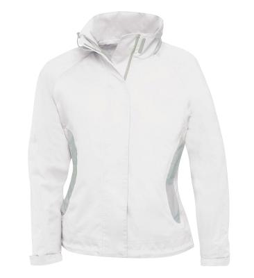 Damen Regenjacke / B&C Sparkling/ L White/Grey