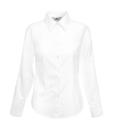 Damen Oxford Bluse Langarm / Fruit of the Loom 65-002-0 M White