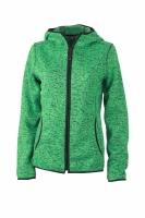 green-melange/black